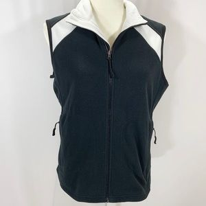 Cutter and Buck black and white fleece golf vest